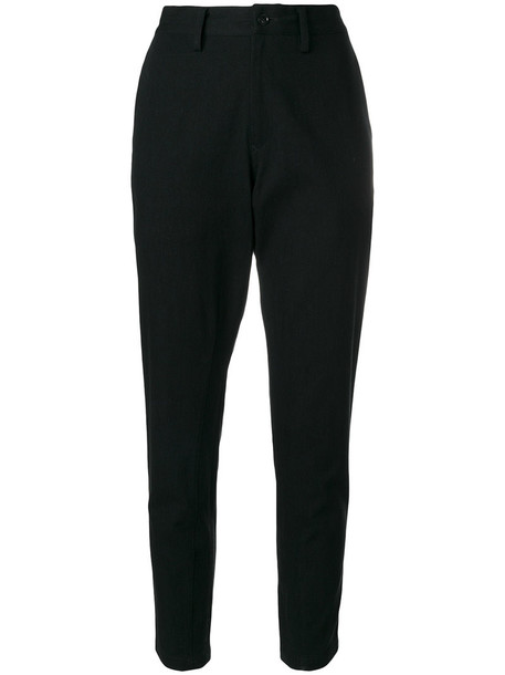 women fit cotton black pants