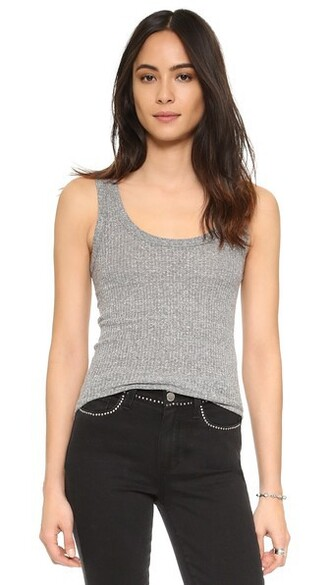 baseball grey heather grey top