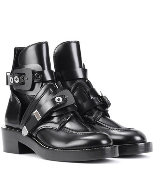 Balenciaga leather ankle boots ankle boots leather black shoes