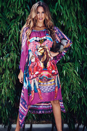 swimwear,agua bendita,cover up,luxury,multicolor,summer dress,bikiniluxe