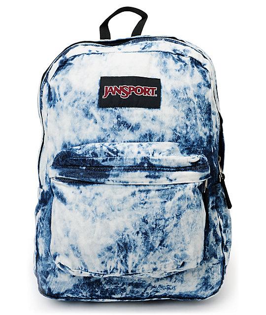 Jansport denim daze acid blue backpack