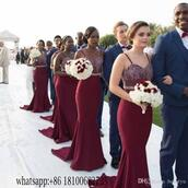 dress,long bridesmaid dress,2017 bridesmaid dress,mermaid bridesmaids dresses,cheap bridesmaids dresses,custom made bridesmaid dress,african arabic wedding bridal gown,vintage lace bridesmaids dresses,burgundy bridesmaid dresses