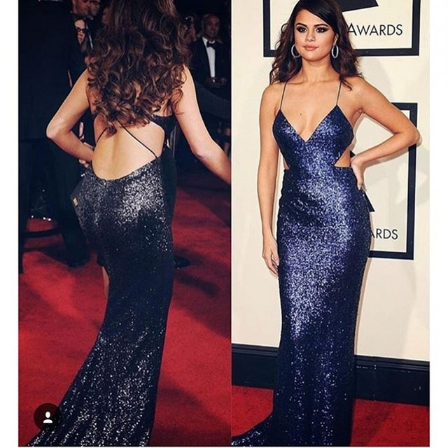 Aliexpress.com : Buy Selena Gomez Celebrity Evening Dress Sexy ...