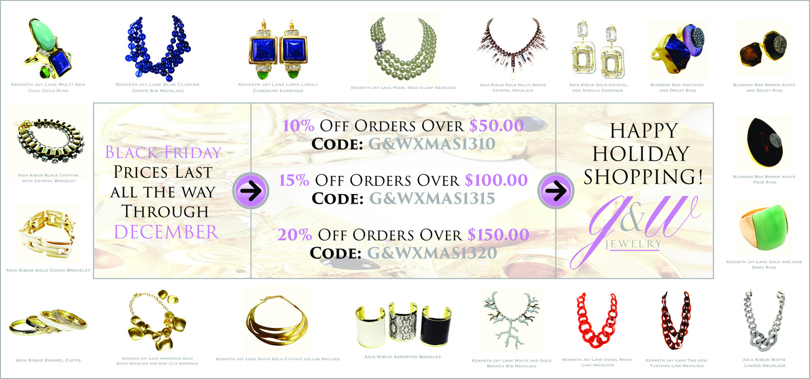 Shop fashion jewelry, designer jewelry, accessories & more | G&W Jewelry