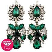 jewels,earrings,green,pretty,crystal