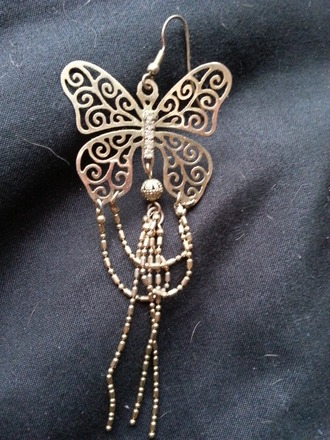 jewels butterfly chandelier earrings gold