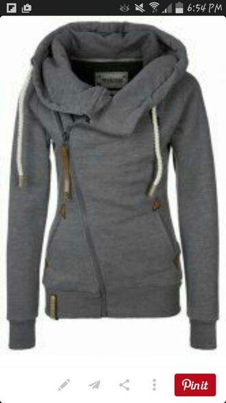 jacket grey cool hoodie jaclet