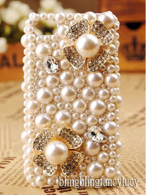 Bling iphone 5 case crystal iphone 5 case pearl iphone 5 case cover bling flower on ebay!