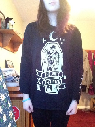 sweater sweatshirt jumper band merch the amity affliction. alternative indie grunge kawaii saft grunge oversized sweater pastel goth scene emo kawaii grunge hipster tumblr