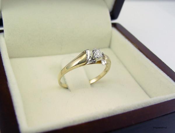 jewels pierścionek impressimo pierścionki zaręczynowe engagement ring gold impressimo