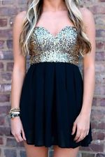 Brand NEW Gold Sequin Dress Black Gold Sequin Dress Size S | eBay