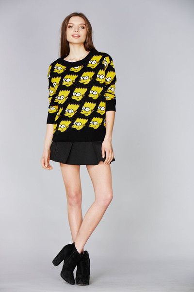 Bart Simpson Wool Knit Sweater – Club Honorée