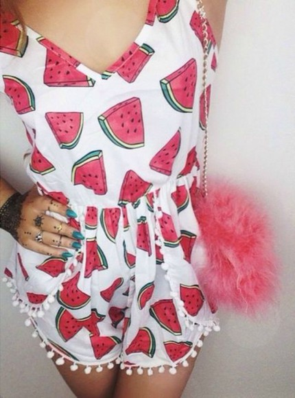 shorts watermelon print watermelon shorts watermelon playsuit playsuit all in one