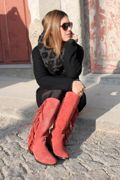 boots,blogger,red brick color,shoes