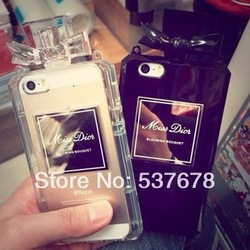 Online shop 2014 new arrival exclusive sale channel no.5 perfume case for iphone 5g 5s handbag case free shipping