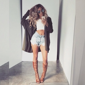 shoes heels nude knee high gladiator sandals cardigan