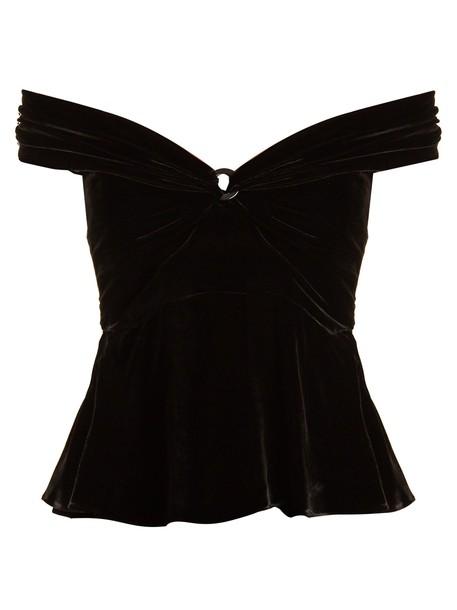 Peter Pilotto top velvet top velvet black