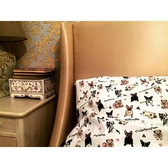 home accessory yeah bunny pugs dog frenchie cute bedding