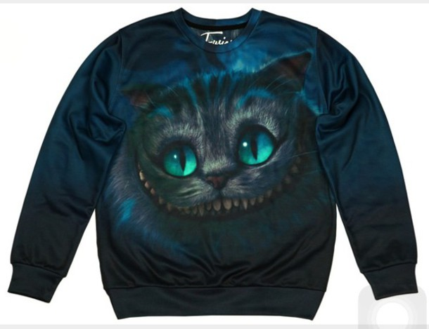 Sweater Cheshire Cats Cat Sweater Hoodie Sweatshirt Alice In