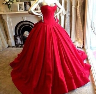 dress ball gown dress ball gown beautiful ball gowns red ball gown quinceanera dress masquerade puffy dress long dress red long prom dress red long dress red puffy dress masquerade dress