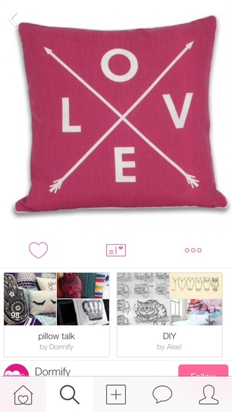 home accessory pink pilow arrows love cute pretty cool heart home decor decors bedroom