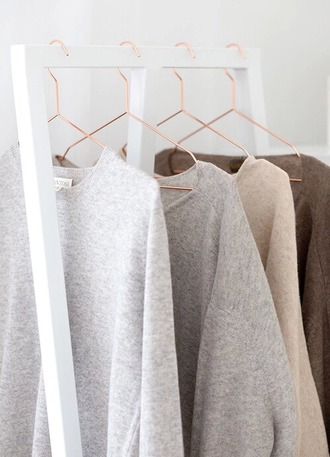 sweater white white sweater grey gray sweater brown brown sweater oversized sweater top minimalist leggings home accessory
