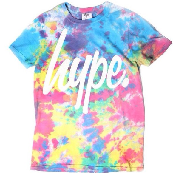 t-shirt hype colourful tie dye shirt tye dye