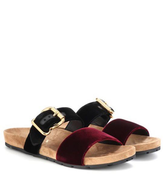 Prada sandals velvet shoes