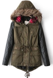 coat,parka,tartan coat,leather jacket,jacket,sheinside,sold out