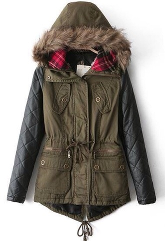 coat parka tartan coat leather jacket jacket sheinside sold out
