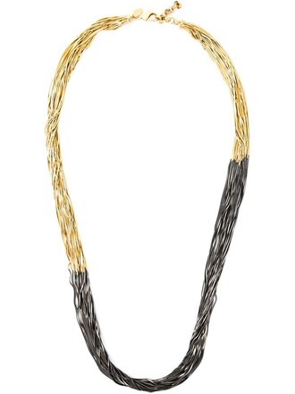 long necklace sun long necklace black metallic jewels