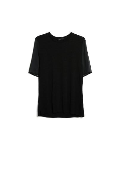 chiffon sleeve t-shirt