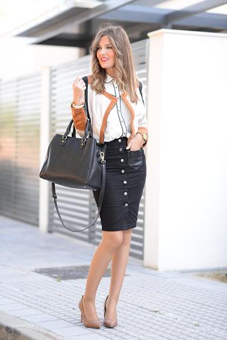 mi aventura con la moda blogger button up skirt