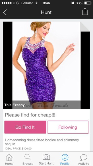 dress purple homecoming dress fitted dress sparkly dress necklace collar