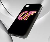 phone cover,black,donut