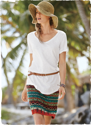 Petra pima cotton skirt