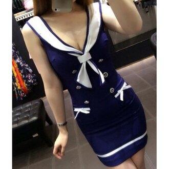 dress navy trendy fashion summer spring sailor trendsgal.com