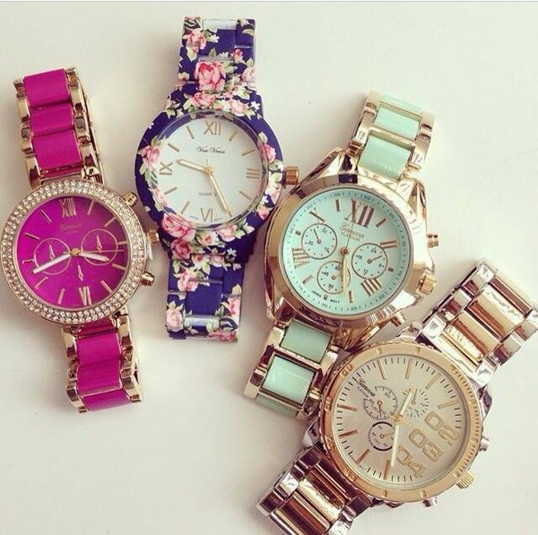 jewels flowers watch