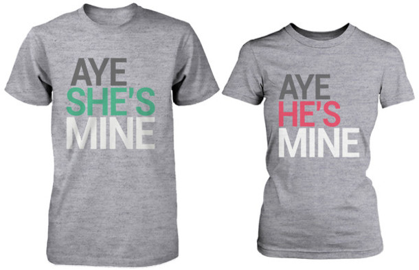 premium selection c8eb9 61112 shirt aye she s mine aye he s mine his and hers shirts matching couples  gift for your