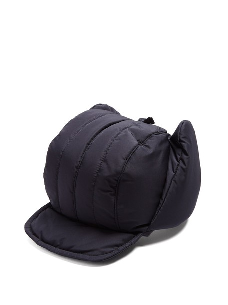 FEDERICA MORETTI quilted hat navy