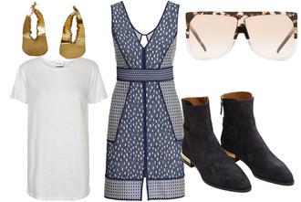 look de pernille blogger dress sunglasses jewels shoes t-shirt