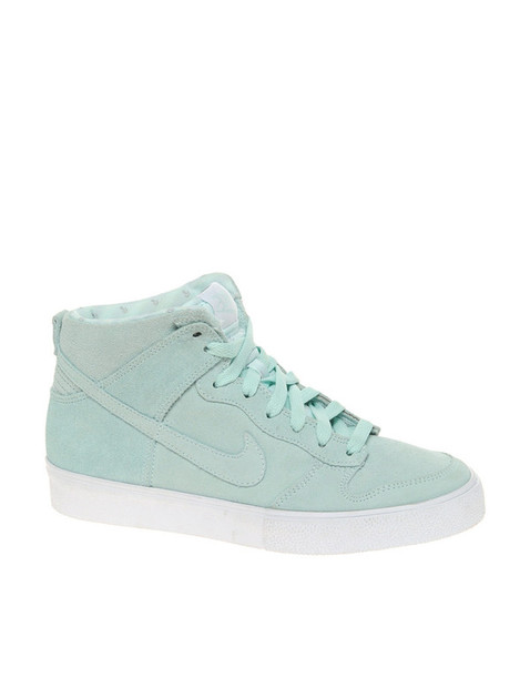 buy online 50a5e 787e4 shoes mint teal nikes nike dunks high top sneakers shoes women hipster  leather shoes black shoes