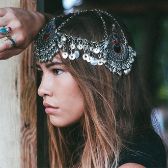 jewels dixi shopdixi shop dixi jewelry jewelery jewellry undefined silver boho bohemian boho chic gypsy gypset ring turquoise hippie festival jeweled headpiece head jewels turquoise jewelry festival jewelry chain