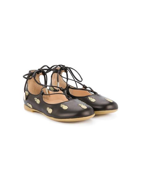Aquazzura Mini shoes lace leather black