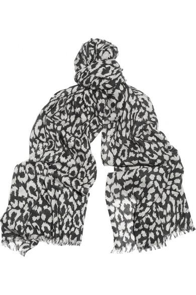 Diane von Furstenberg|Leopard-print cashmere scarf|NET-A-PORTER.COM