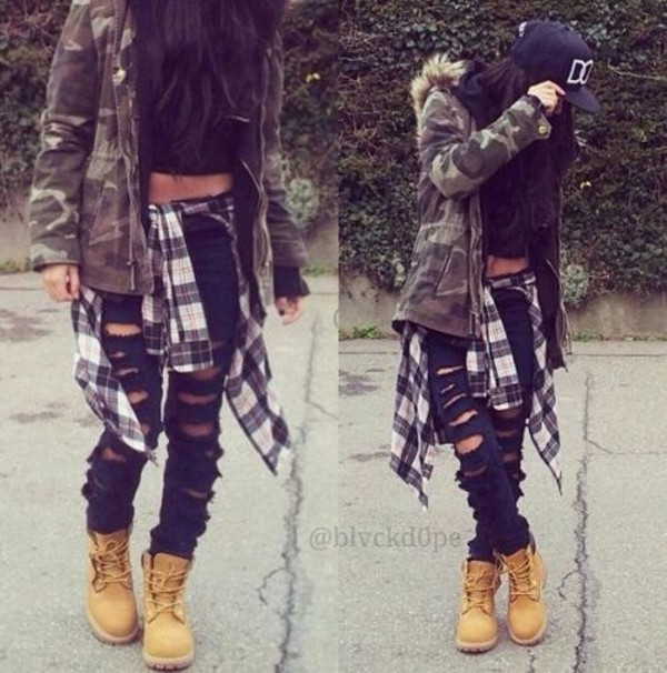 jeans top tank top blouse jacket camo jacket camouflage fall jacket timberlands hat
