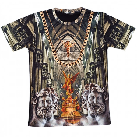 Shop :: What's New :: Simply Hype Golden Cathedral Tee - Black/Multi -