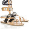 Multi leather rivetted gladiator sandals