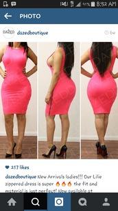 dress,pink dress,sideboob,lowback dress,zip