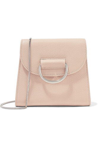 bag shoulder bag leather beige